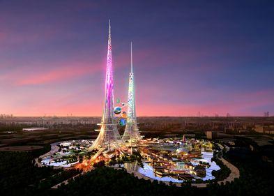 Simbol opulent, în China: cel mai înalt turn din lume va purifica aerul şi apa