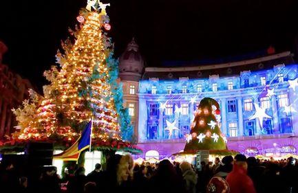 Se aprind luminile de sărbători, în Capitală