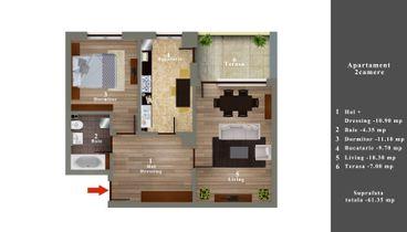 03 Apartament 2 camere in oglinda 48900 E