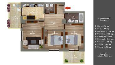01 Apartament 3 camere 60900 E