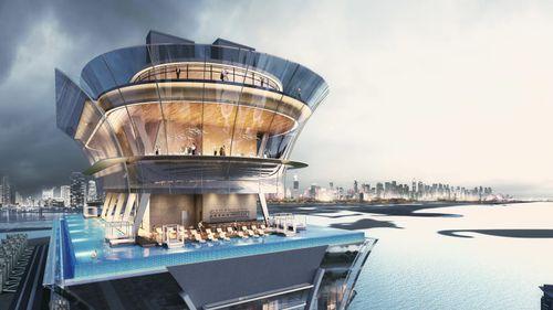 Dubai: piscina infinită de la etajul 52