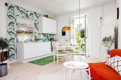 Idei de amenajare: accente de culoare, într-un apartament de 50 metri pătraţi (VEZI FOTO)