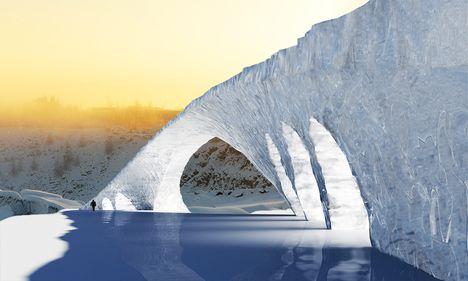 Record mondial în gheață: podul lui DaVinci, perfect pus în practică de studenți