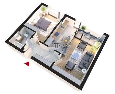 Apartament 2 camere 57 mp