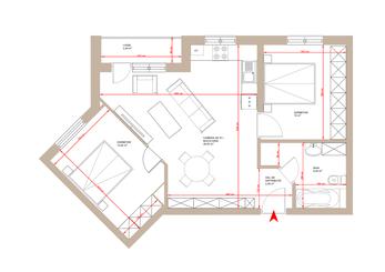 Apartament 3 camere Tip 1A