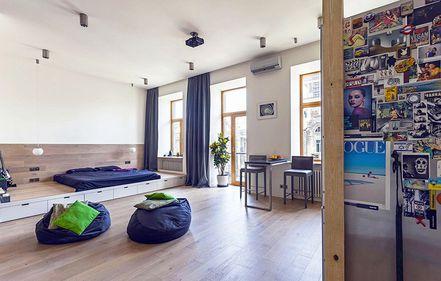 Amenajare: apartament cu două camere, transformat într-o garsonieră neconvenţională (FOTO)