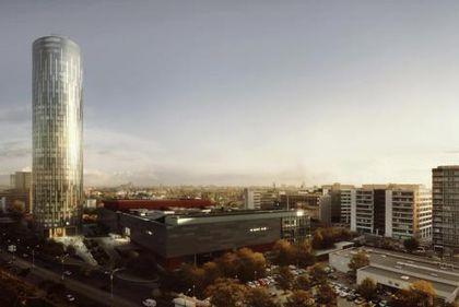 Chinezii ar fi invidioşi: din septembrie până azi, turnul Raiffeisen a ajuns cât Intercontinentalul. Iar construcţia e doar la jumătate