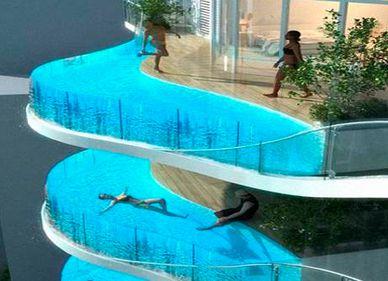 Noua fiţă la apartamentele de lux: Balcoanele cu piscină