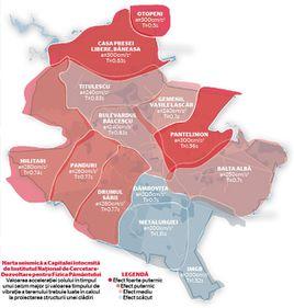 Dinamica seismică a Bucureştiului: Nordul, cel mai vulnerabil