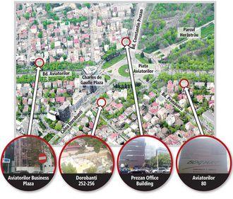 Piaţa Aviatorilor, înconjurată de şantierele a patru noi proiecte
