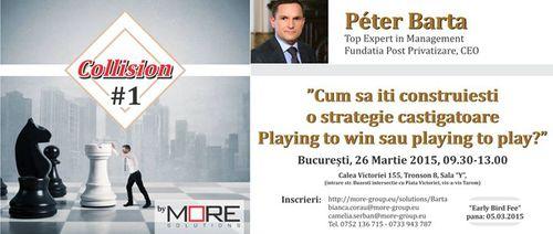 Collision by MORE Solutions: workshop interactiv dedicat creșterii afacerilor imobiliare