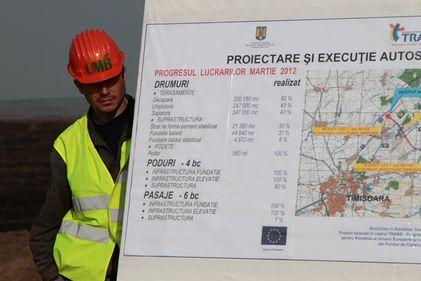 Lucrările la autostrada Timişoara-Lugoj merg mai repede decât planul, dar tronsonul Lugoj-Deva este mult rămas în urmă