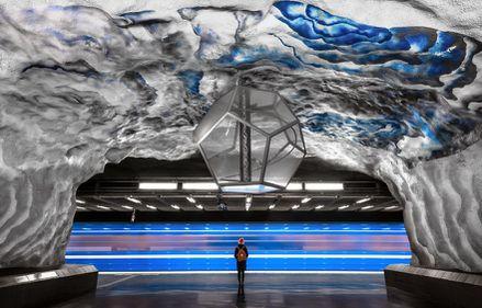 Rețeaua de metrou din Stockholm, cea mai lungă galerie de artă din lume (FOTO)