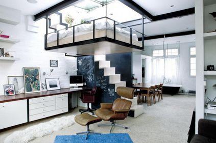 Amenajare: patul suspendat, în mijlocul livingului (FOTO)