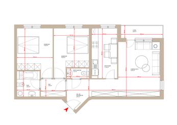 Apartament 3 camere Tip 1D