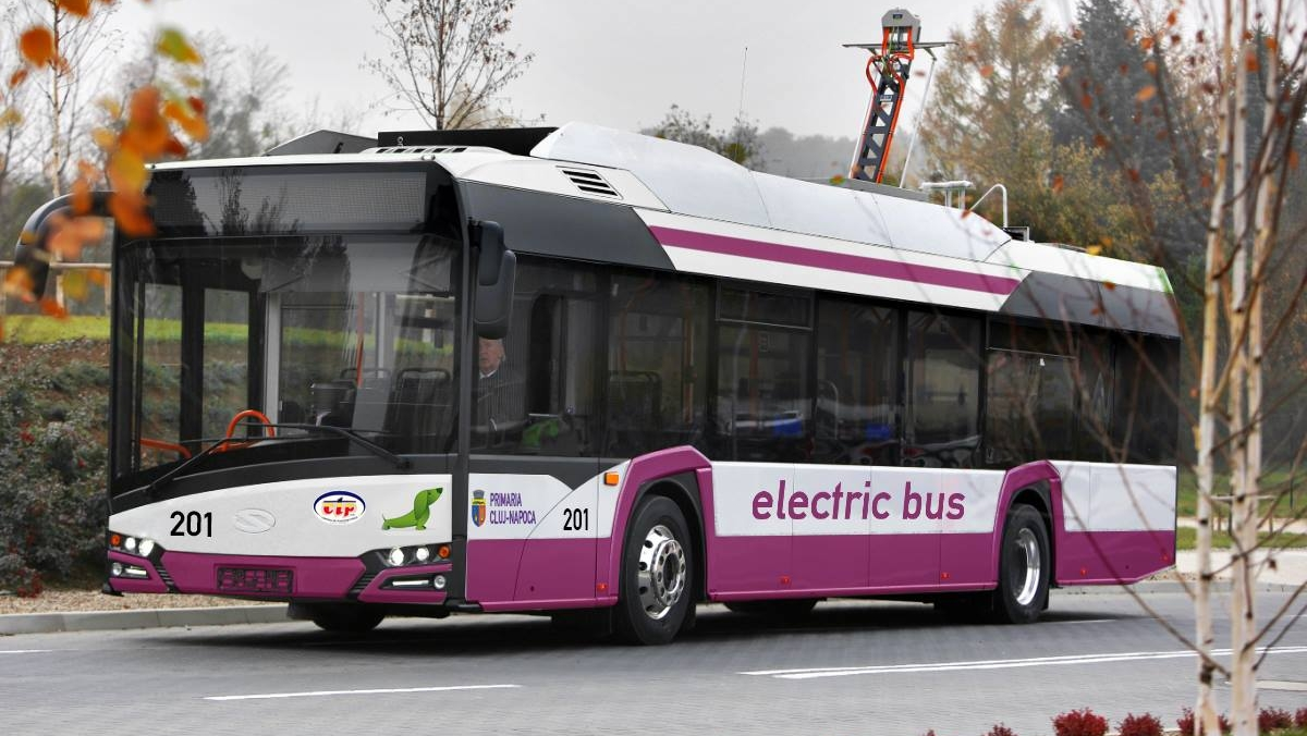 Primele autobuze electrice din Romania au intrat în circulație la Cluj-Napoca